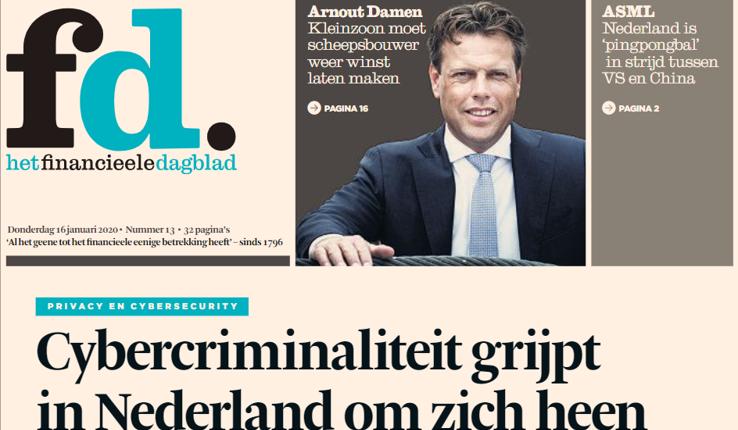 FD het financieel dagblad over cybercriminaliteit